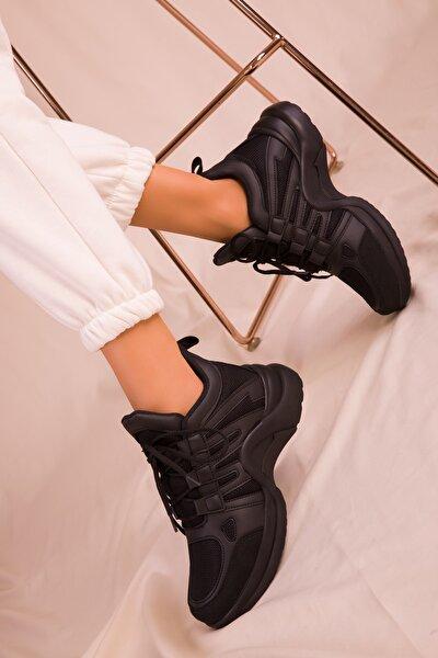 Siyah-Siyah Kadın Sneaker 15791