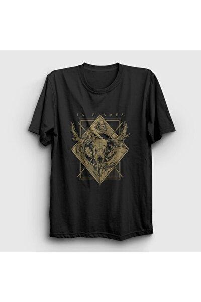 Unisex Siyah Moose In Flames T-shirt 84782tt
