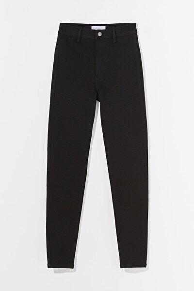 Kadın Siyah Süper Yüksek Bel Jegging Jean