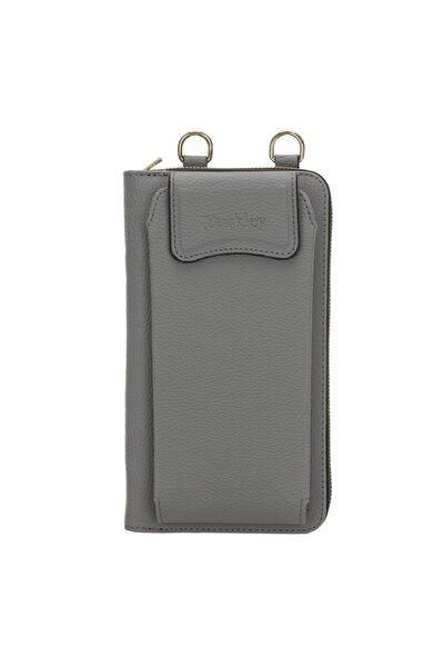 Joan Kadın Gri Çanta Cüzdan Telefon Kılıfı Grau 6365