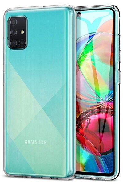 Galaxy A71 Kılıf Şeffaf Hibrit Silikon Esnek Kapak