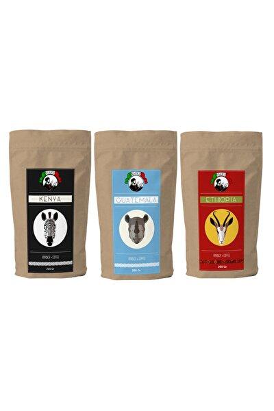 Fırsat Paketi Etiyopya & Guatemala & Kenya 3x200 Gram Filtre Kahve