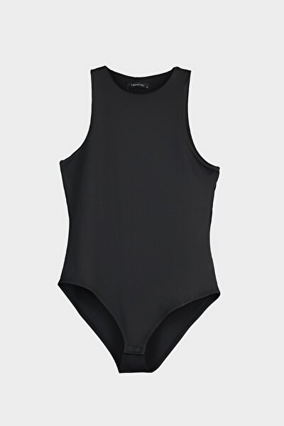 Siyah Çıtçıtlı Örme Body TWOSS20BD0044