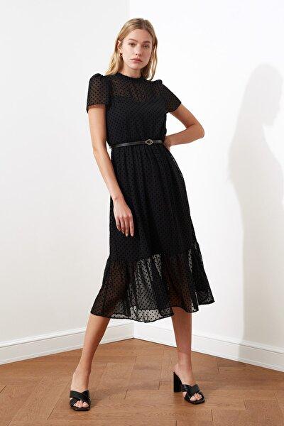 Siyah Kemerli Elbise TWOSS20EL0983