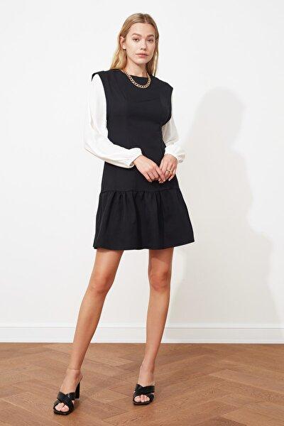 Siyah Kol Detaylı Elbise TWOSS21EL0673
