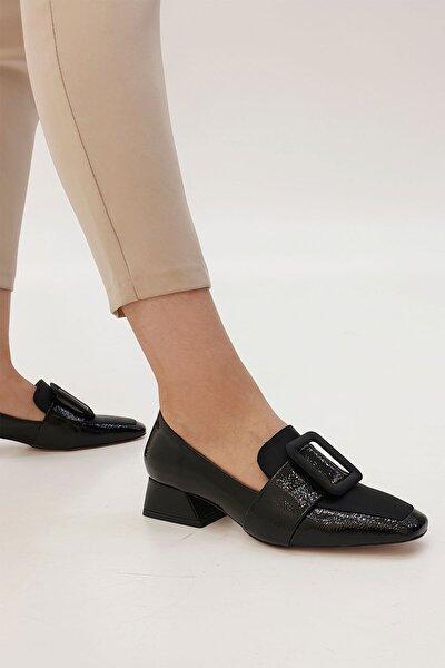 Jiyona Kadın Klasik Topuklu Ayakkabısiyah Rugan