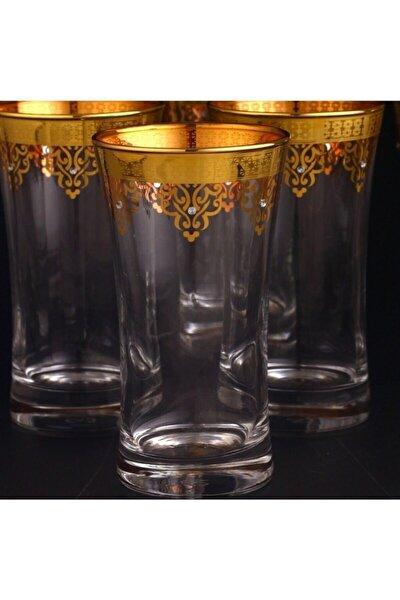 Dekorlu Meşrubat Bardak 6 Adet -ottoman Gold