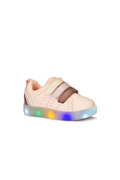 Kız Çocuk Pudra Işıklı Spor Ayakkabı 220.b21y.212