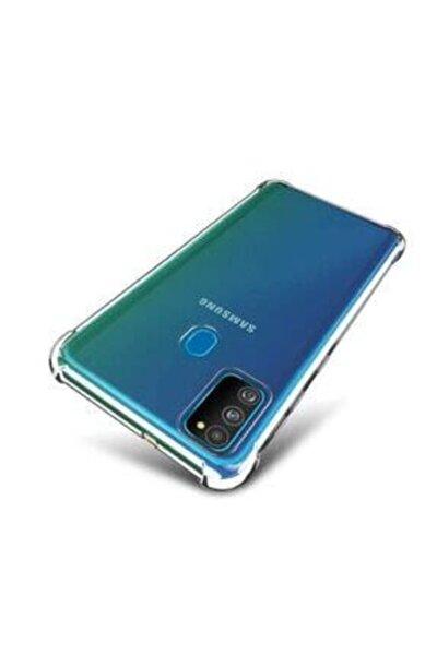 Samsung Galaxy M21 Uyumlu Şeffaf Tıpalı Kamera Korumalı 3d Silikon Kılıf