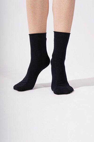 Harold Bamboo Lastiksiz Kadın Soket Çorap - Lacivert