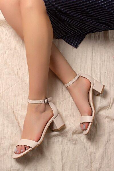 Kadın Bej Klasik Topuklu