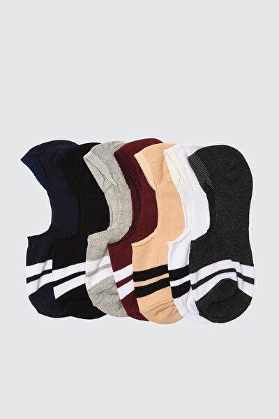 Çok Renkli Erkek 7'li Paket Suba Çorap TMNSS20CO0008