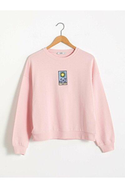 Kadın Pembe Sweatshirt XSIDE Koleksiyonu