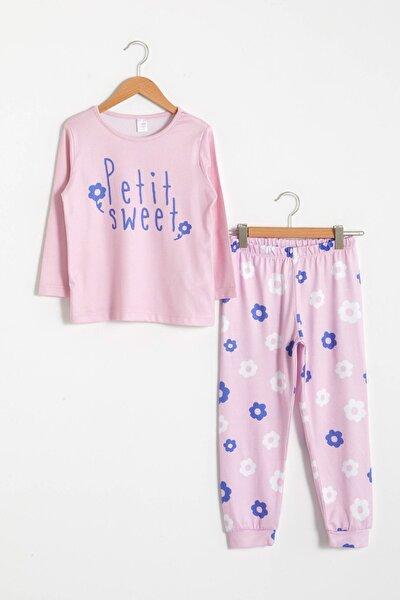 Kız Çocuk Pembe Jh3 Pijama Takımı