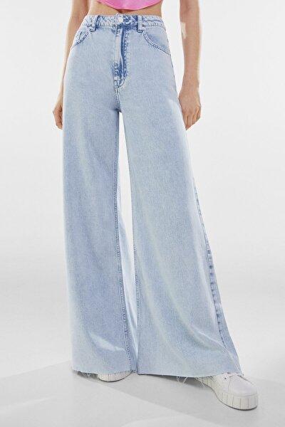 Kadın Açık Mavi Wide Leg Jean 00063335