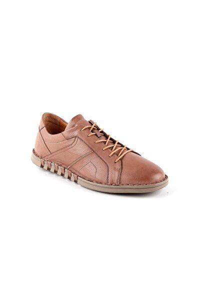 L3764 Erkek Deri Ayakkabı Vizon