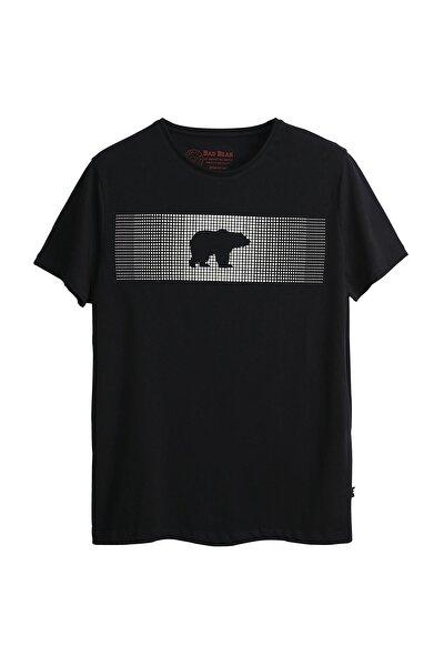 Erkek Siyah Tişört Fancy T-shırt