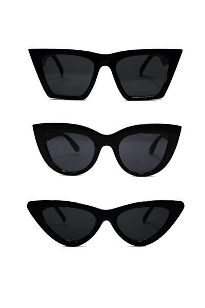 Kadın Güneş Gözlüğü 3 Lü Set Catset3sıyah Catset3sıyah