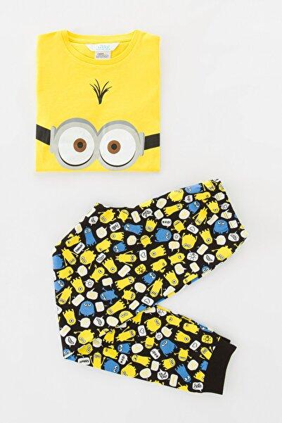 Erkek Çocuk Sarı Boys Lic Minions Pijama Takımı