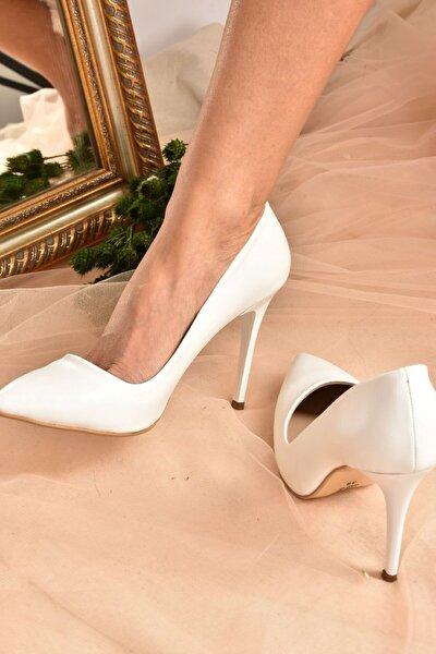 Kadın Beyaz Topuklu Ayakkabı 8922151909