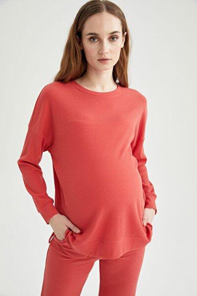 Kadın Hamile Basic Sweatshirt T8536AZ21SP