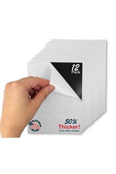 12 Adet Kendinden Yapışkanlı Fotoğraf Magneti, 10cm X15cm Levha Foto Magnet Mıknatıs