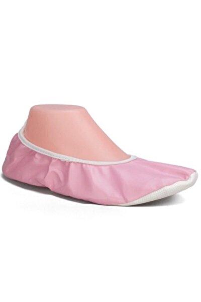 Pisi Pisi Kiraz Çiçeği Pembesi Gösteri Ayakkabısı Kaymaz Tabanlı Babet Ayakkabı