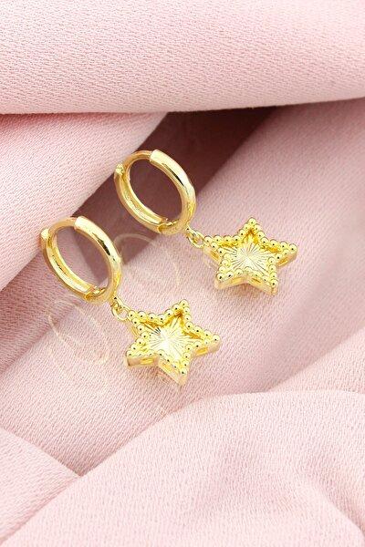 Gümüş Yıldız Modeli Kalemli Küpe