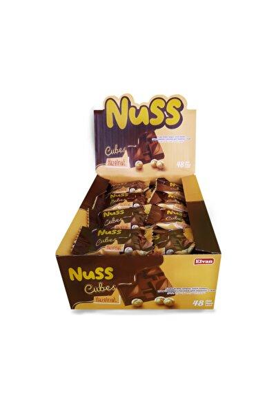 Nuss Cubes Fındıklı 10gr  48 Adet (1 Kutu)