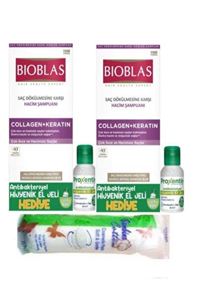 Collagen Keratin Şampuan 360 ml x 2 Adet + Antibakteriyel Jel