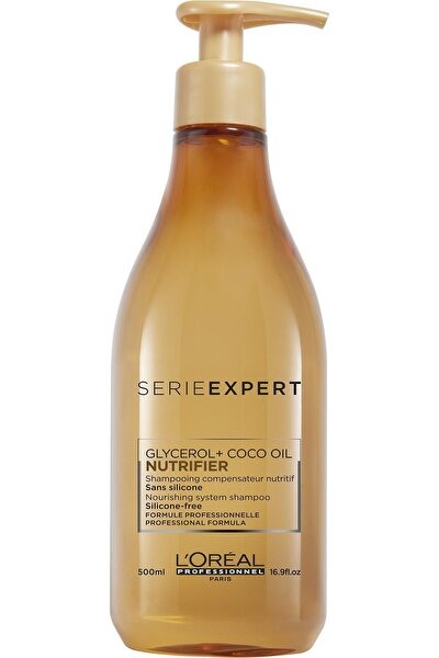 Serie Expert Nutrifier Kuru Saçlar için Nem Yükleyici Şampuan 500 ml