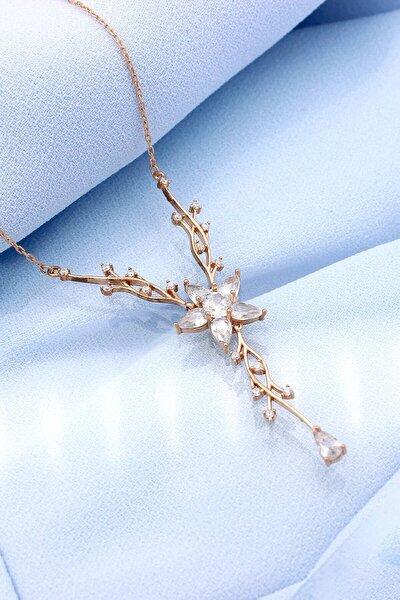 Sarmaşıklı Gümüş Çiçek Kolye