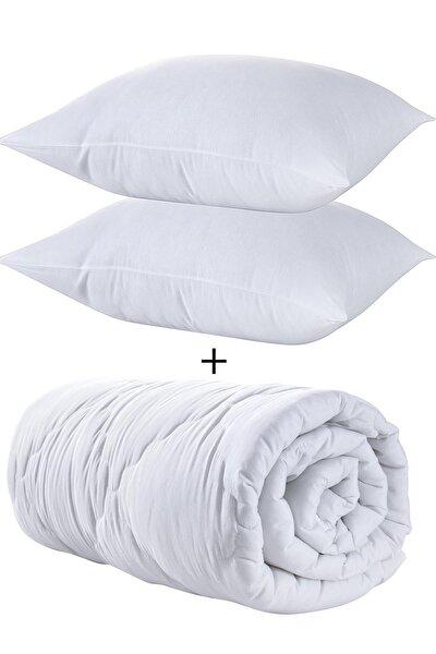 Çift Kişilik Pamuklu Yorgan Seti + 2 Yastık Hediyeli