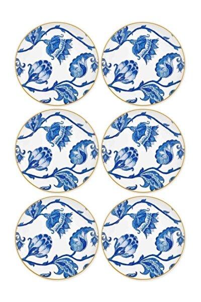 Mavi Stoneware  Fleur 6'lı Pasta Tabağı Prs0002 19cm
