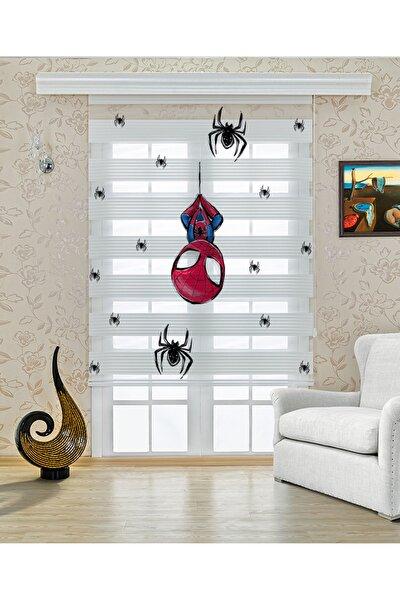 Baskılı Zebra Stor Perde Çocuk Örümcek Adam Desenli Dp-315