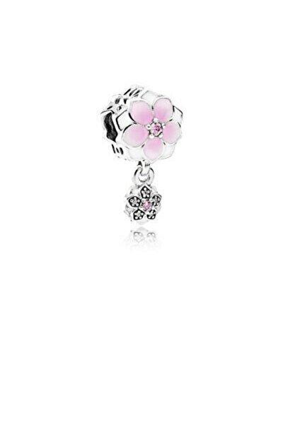 Manolya Çiçeği Gümüş Charm