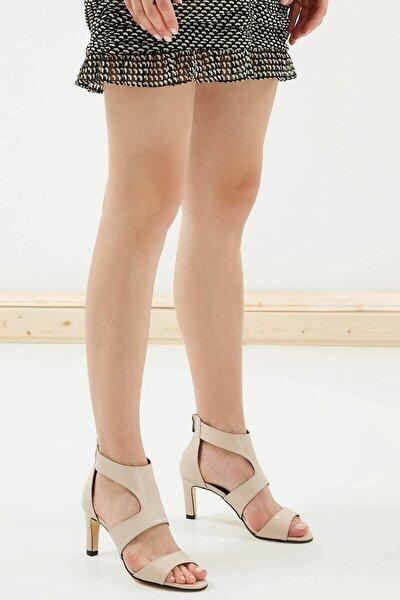 Belissa Ten Rengi Kalın Topuklu Ayakkabı