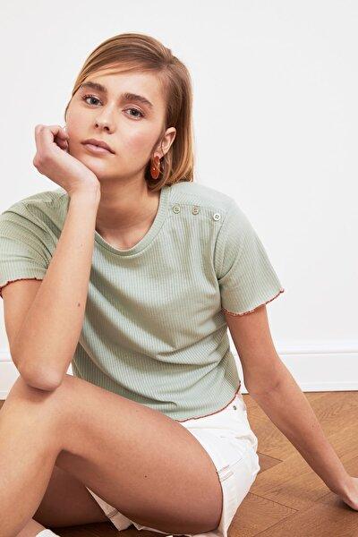 Mint Fitilli Örme Bluz TWOSS21BZ0756