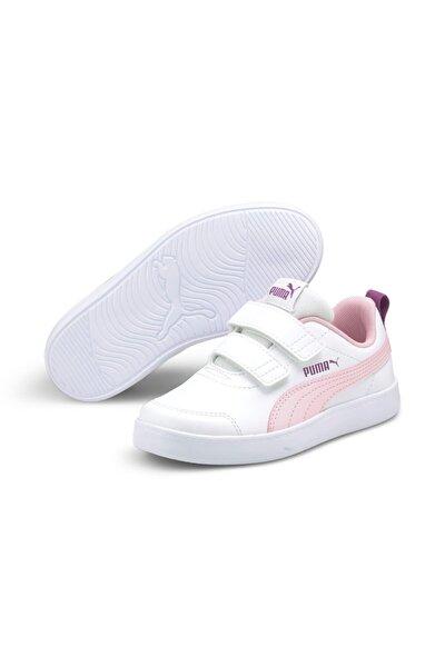 COURTFLEX V2 V PS Beyaz Kız Çocuk Sneaker Ayakkabı 101085093