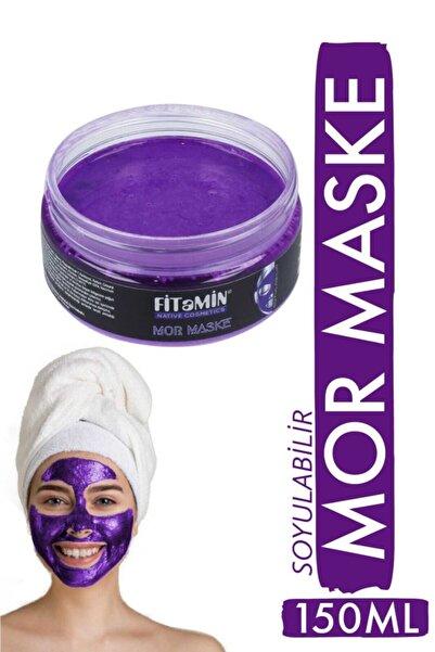 Soyulabilir Mor Maske Collagen Kara Mürver Koenzim Q10 Hyaluronik Asit Kaolin Yaban Mersini 150ml