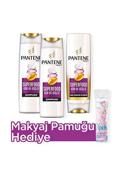 Şampuan Superfood Gür Ve Güçlü 470 ml X 2 Saç Kremi 470 ml Makyaj Pamuğu
