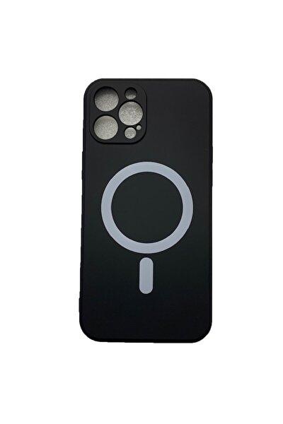 Iphone 12 Pro Max Uyumlu  Mıknatıslı Şarj Özellikli Magsafe Yumuşak Lansman Silikon Kılıf