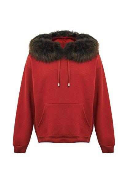 Kürk Detaylı Sweatshirt