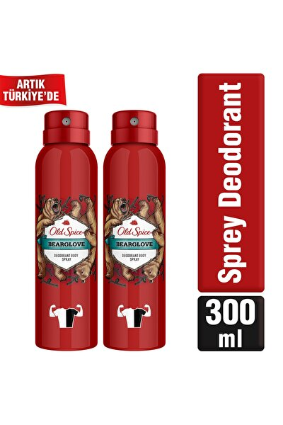 Bearglove 150 ml x2 Sprey Deodorant