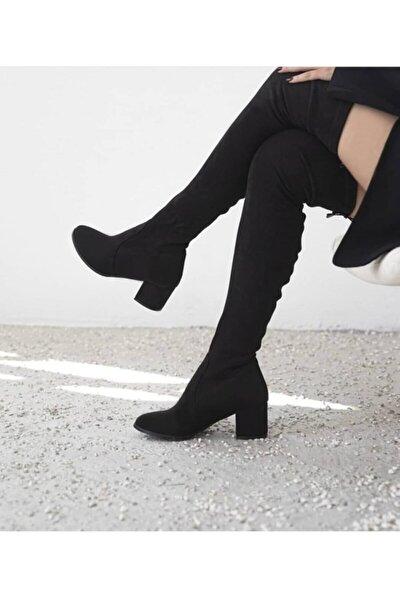 Kadın Çorap Çizme Süet
