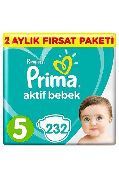Bebek Bezi Aktif Bebek 5 Beden 232 Adet Junior 2 Aylık Fırsat Paketi