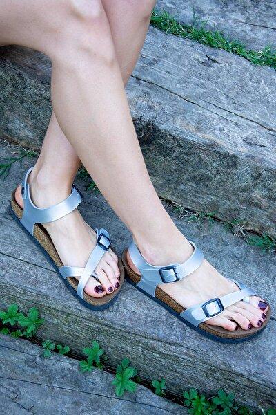 Gümüş Kadın Sandalet H777786009