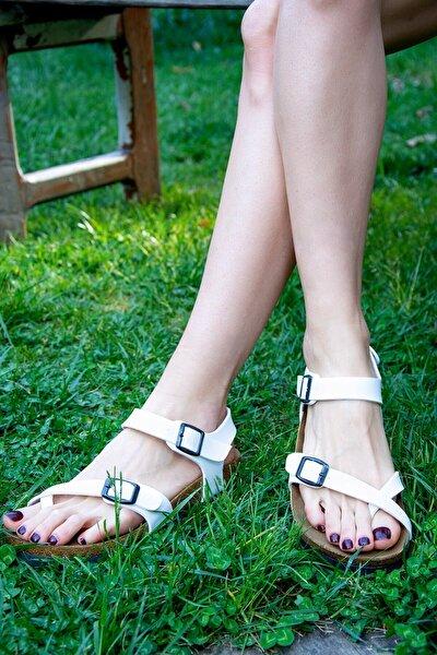 Beyaz Kadın Sandalet H777786009