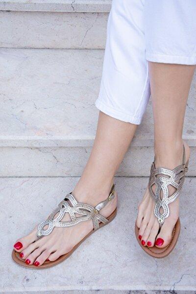 Bronz Kadın Sandalet H713011514