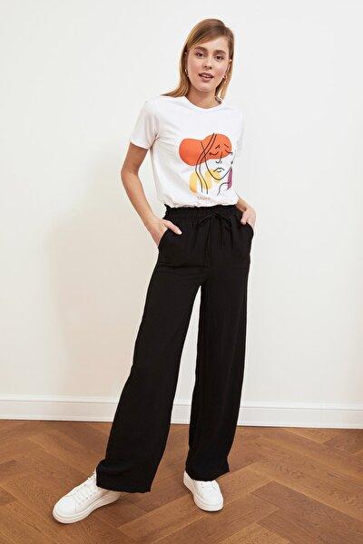 Siyah Geniş Paça Pantolon TWOSS21PL0261